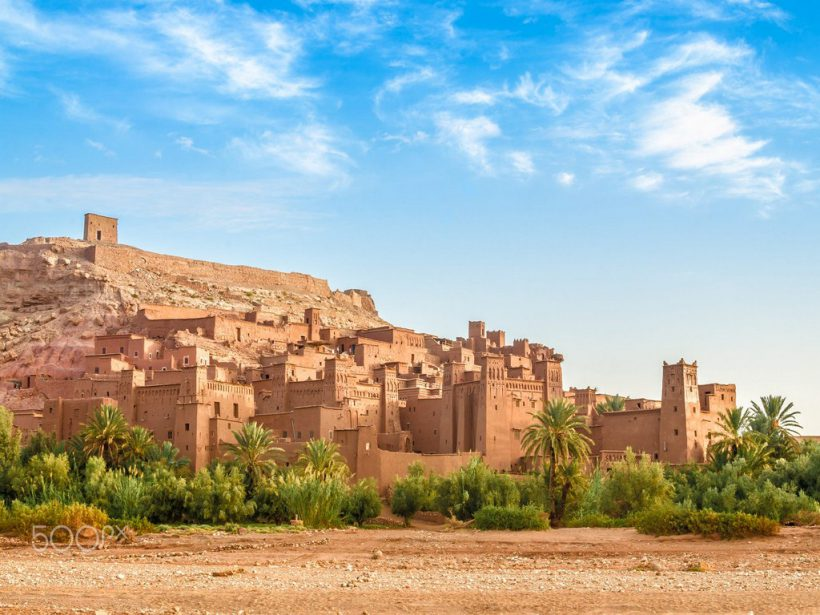 Ksar Ait Benhaddou in the morning, Morocco